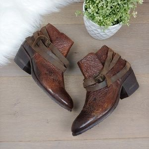 H By Hudson 'Horrigan' Ankle Bootie brown Leather